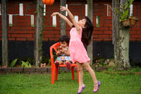 2017 PJ Play - Nur Eryna and Qamelia playing basketball