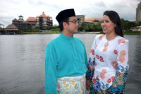 Haniff and Elle Wedding Montage Photoshoot