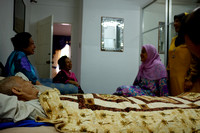 Visiting Mak Non's Uncle Hamzah who was not feeling well