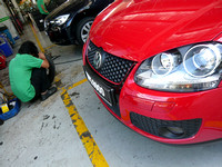 Volkswagen GTi Tyre Puncture Patching