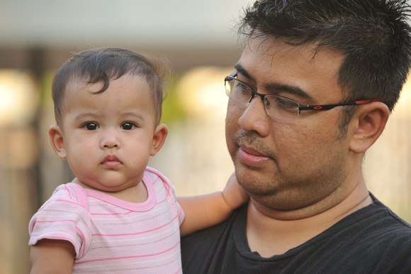 Nur Qamelia and her daddy